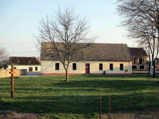 Mјесто гдје ће се градити црква Светом Нектарију... (Фото: РТРС)
