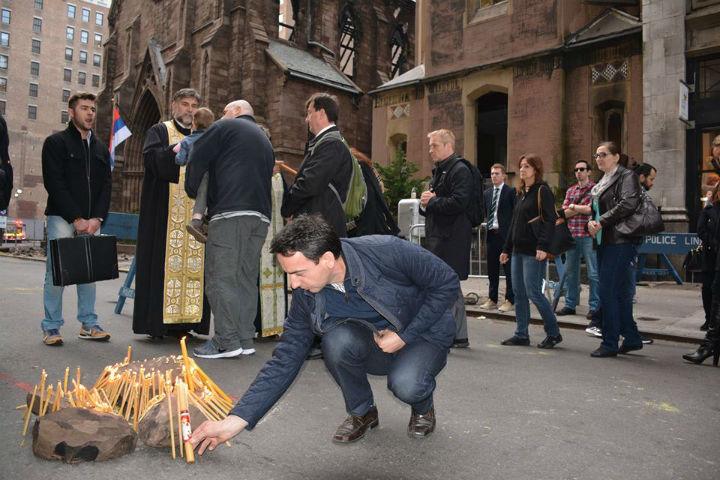 Vjernici: Ponovi ćemo sagraditi crkvu (foto: Milan Milatović/Facebook)