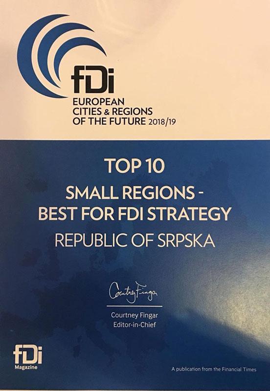 """Kan - dodjela nagrade """"Evropska regija budućnosti"""" (Foto: RTRS)"""