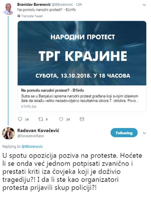 Одговор Радована Ковачевића