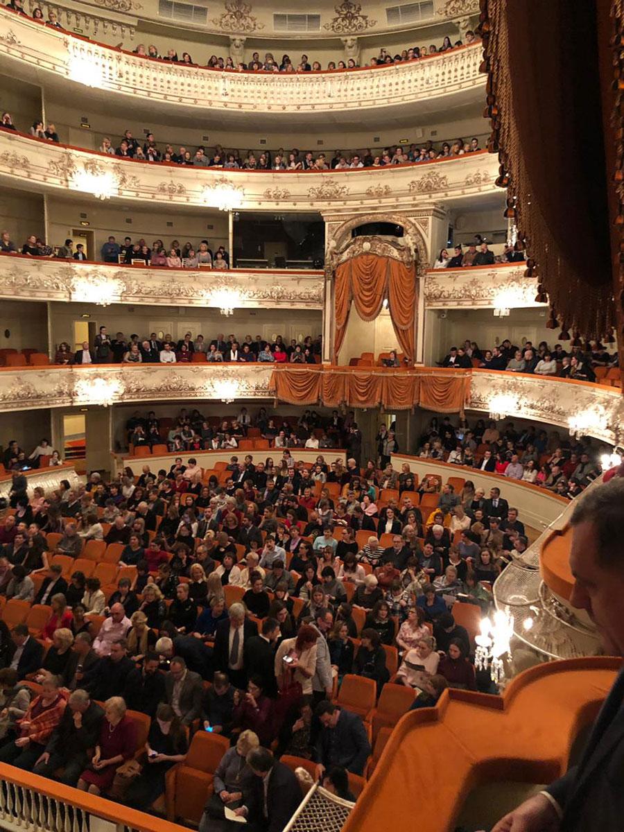 Milorad Dodik na baletu Romeo i Јulija (Foto: RTRS)