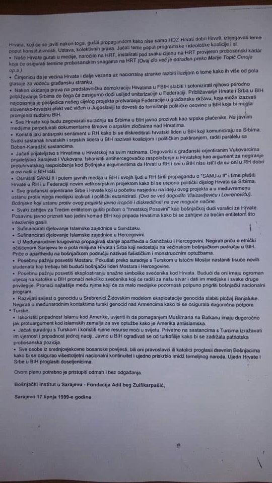 "Memoradndum ""BOING"" (foto:dnevnik.ba)"