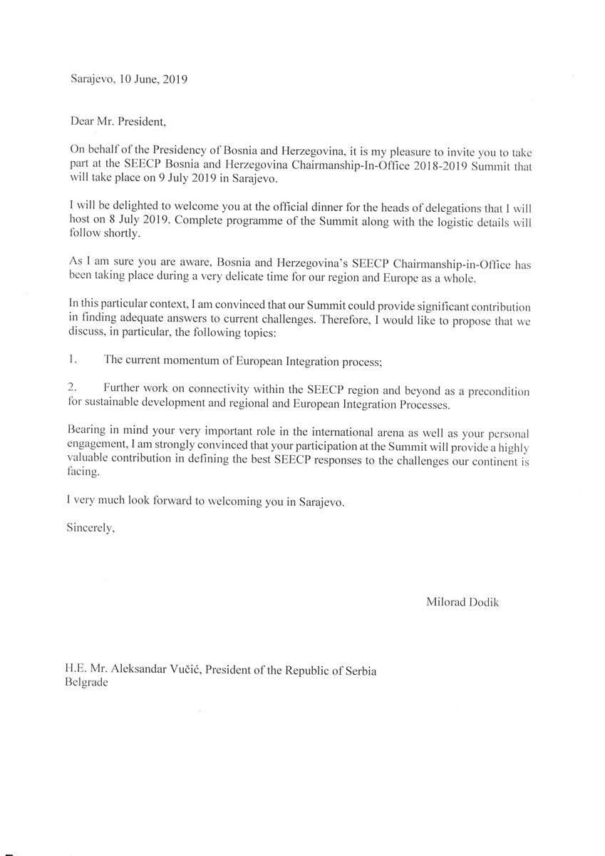Писмо за Александра Вучића (Фото: РТРС)