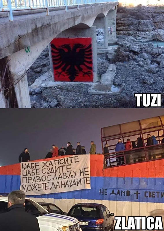 Trobojka i crni dvoglavi orao (Foto: Novosti/Fejsbuk)