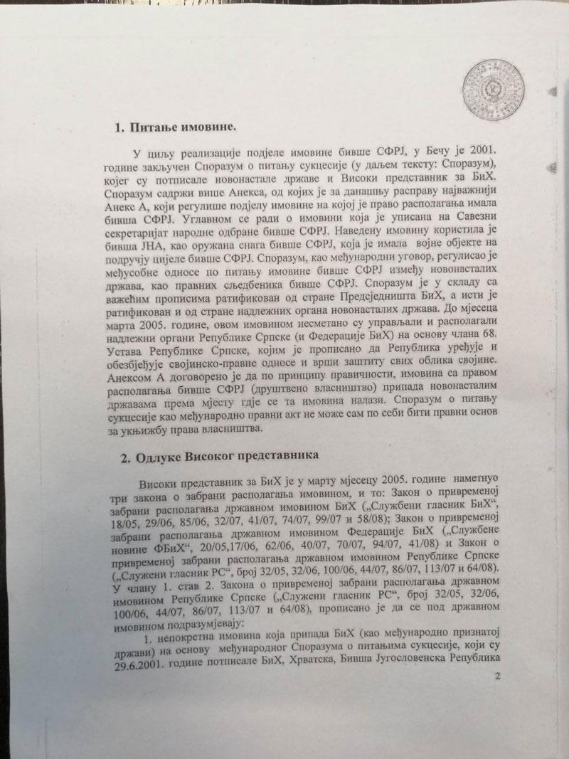 Informacija u vezi antidejtonskog djelovanja Ustavnog suda BiH (Foto: RTRS)