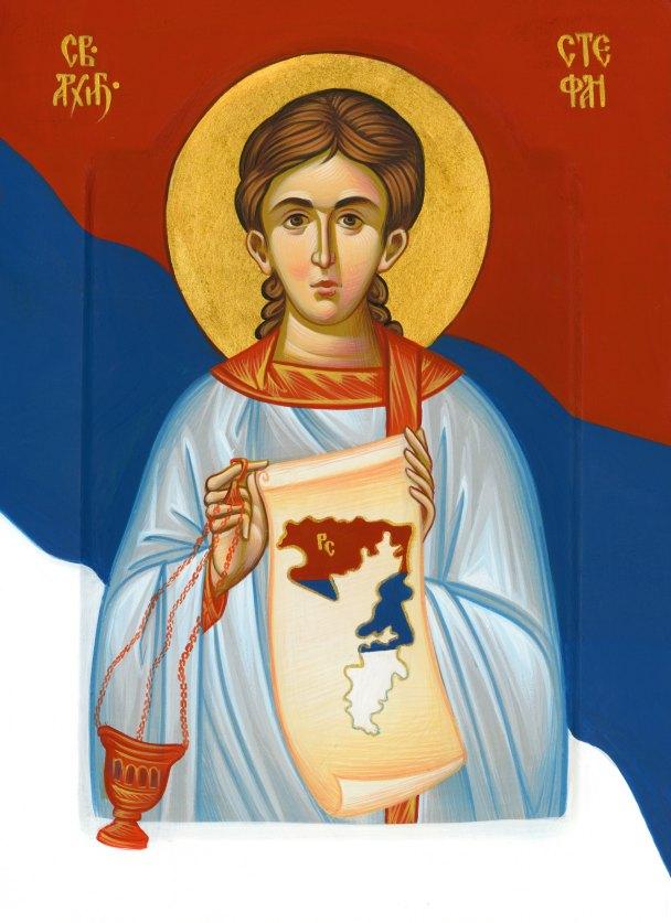 Ikonopisac Jelena Popović izradila ikonu za Dan Republike (Foto: SRNA)