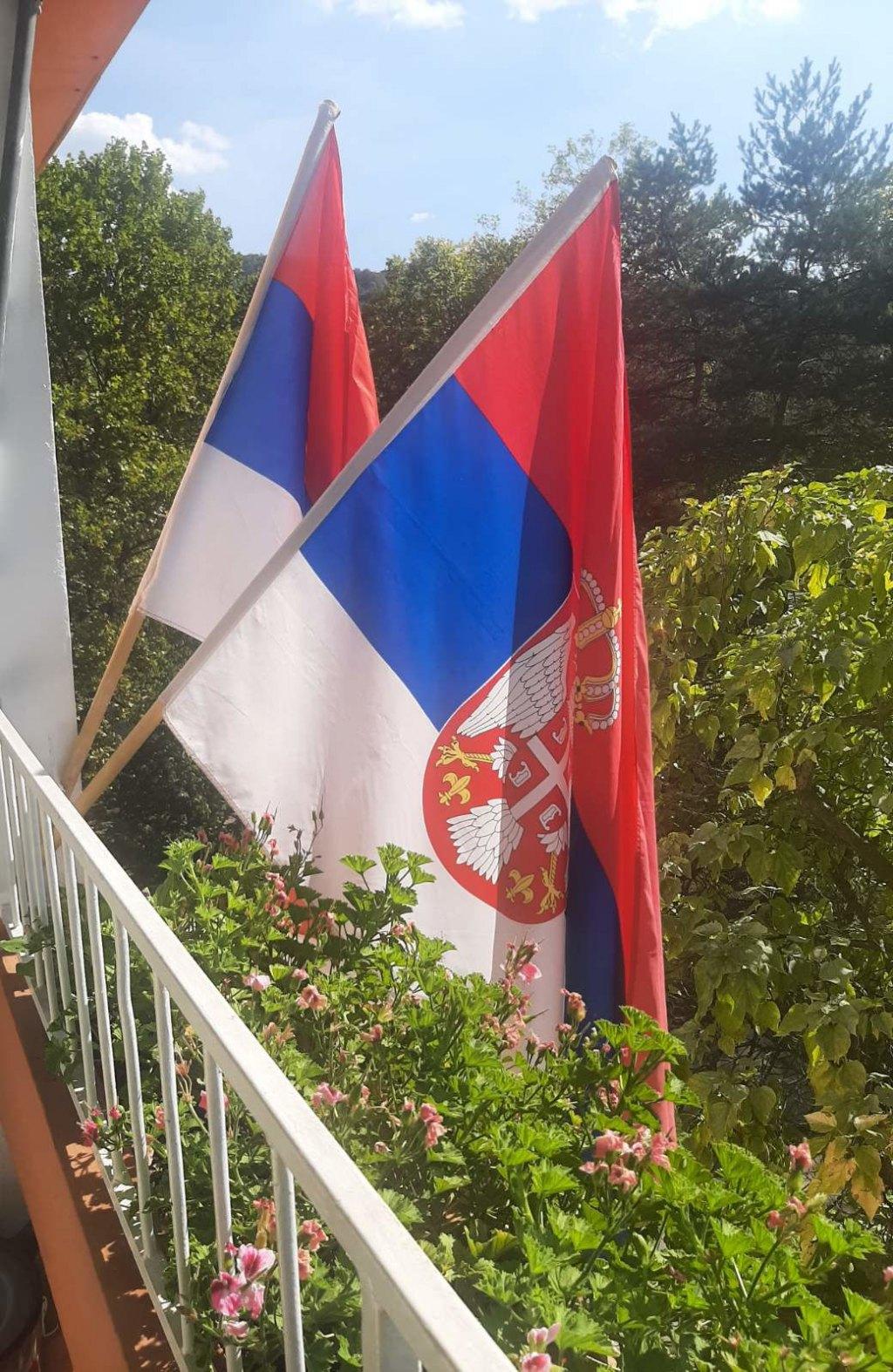 Zastave u Ulici Prve krajiške brigade NO 1, Banjaluka