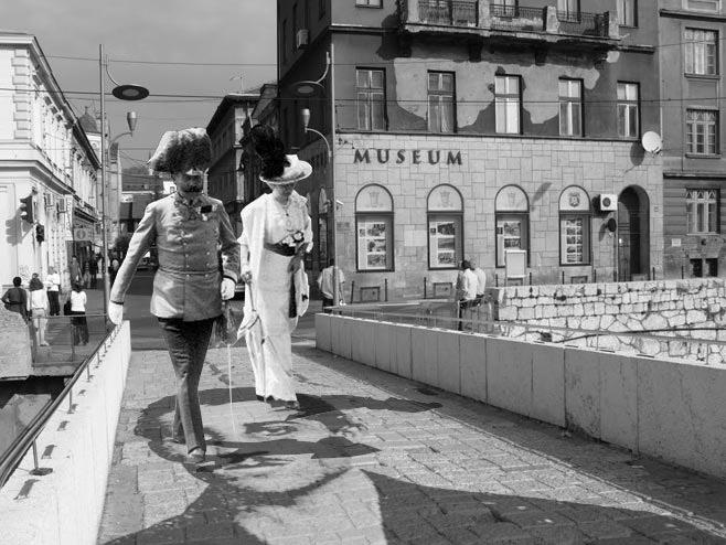 Франц Фердинанд поново у Сарајеву (карикатура: Дарко Самарџић Кодар) - Фото: РТРС