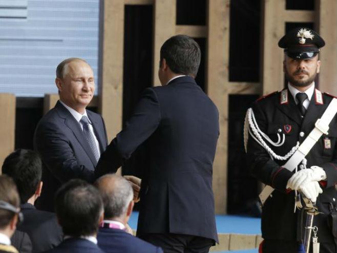 Putin i Renci u Milanu - Foto: AP