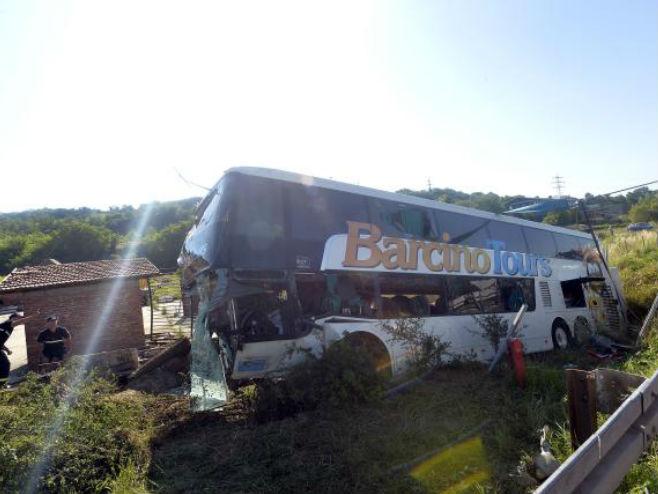 Saobraćajna nesreća kod Beograda - Foto: TANJUG