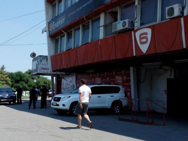 Bomba na stadionu Crvene zvezde (foto: Telegraf) -