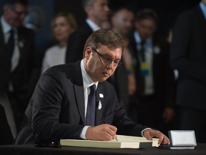 Aleksandar Vučić u Srebrenici