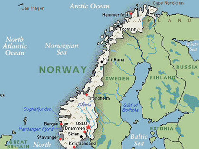 norveska mapa Norveška  Pojačane policijske provjere duž granice norveska mapa