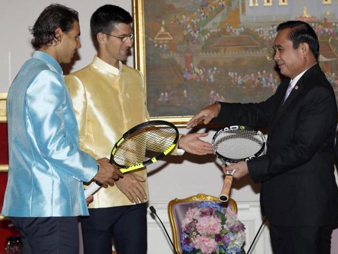 Novak Đoković i Rafal Nadal kod tajlandskog premijera - Foto: AP