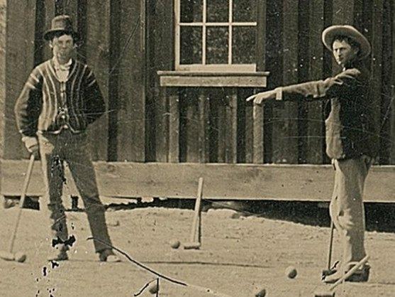 Dio fotografije na kojoj Bili Kid (lijevo) igra kroket - Foto: ilustracija