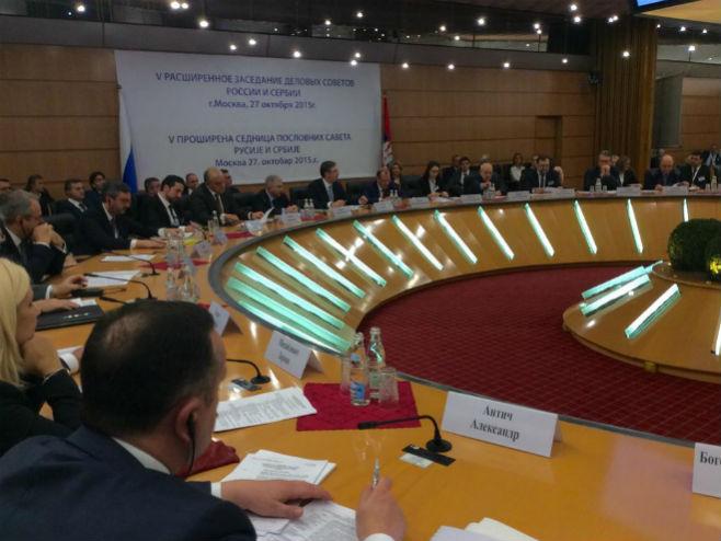 Rusko-srpski forum u Moskvi (foto: Twitter @SerbianPM) -