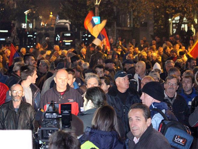 Protest Demokratskog fronta u Podgorici (Foto: vijesti.me) -