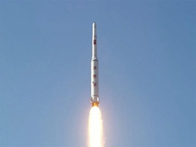 Балистичка ракета Сјеверне Кореје (Фото: TV Сјеверна Кореја / screenshot) -