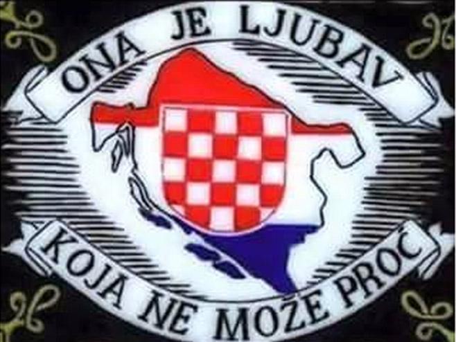 Мапа Независне државе Хрватске (фото: Срна)