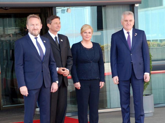 Bakir Izetbegović, Boris Pahor, Kolinda Grabar Kitarović i Tomislav Nikolić (Foto: Srna)
