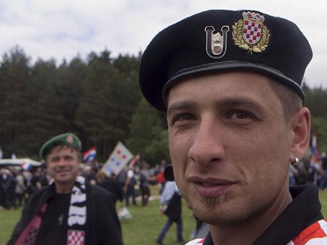 Ултра десничари из Хрватске - Фото: АП