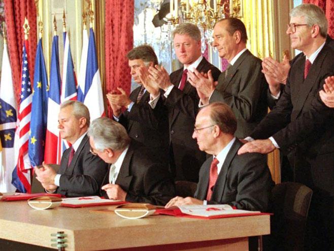 Потписивање Дејтонског споразума - Фото: АП