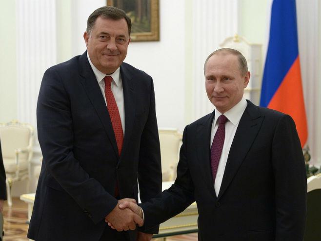 Dodik i Putin (foto: kremlin.ru) -