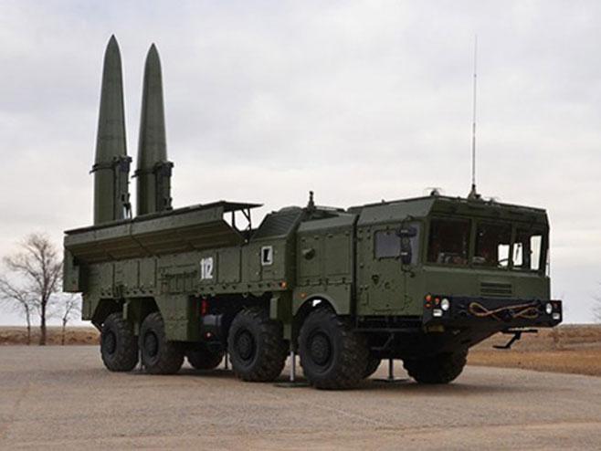 "Ракетни систем ""Искандер-М"" (Фото: Министарство одбране Русије) -"