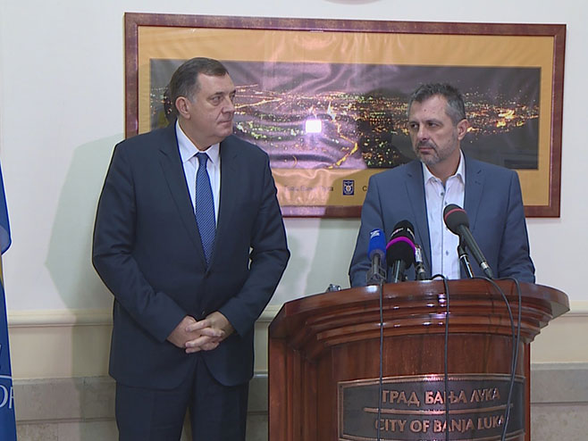 Milorad Dodik i Igor Radojičić - Foto: RTRS