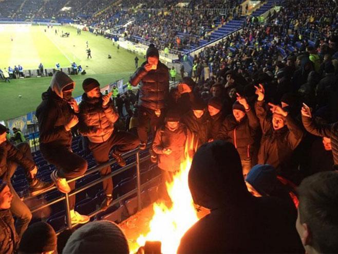 Украјинци кажњени због паљења српске заставе (Фото: facebook.com/romabra) -