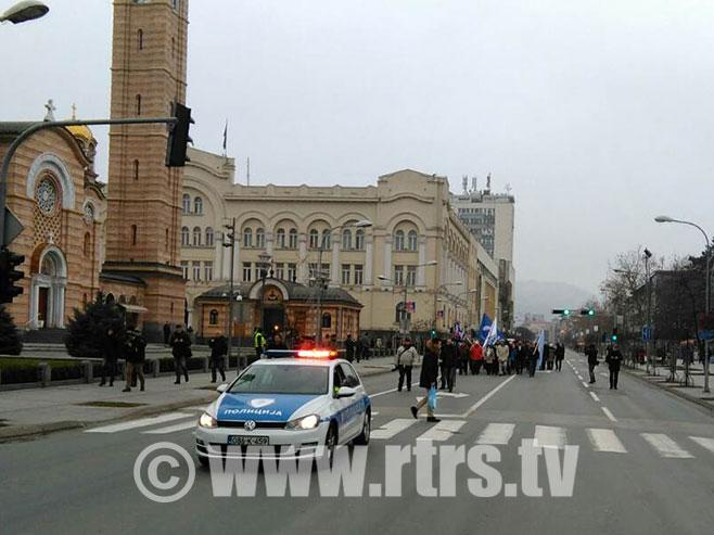U Banjaluci mirni protesti budžetskih korisnika (Foto: RTRS)
