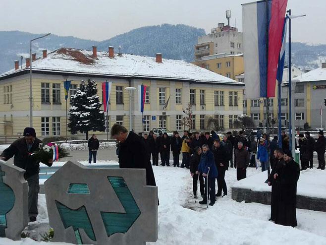 Фоча: Полагање вијенаца (Фото: РТРС)
