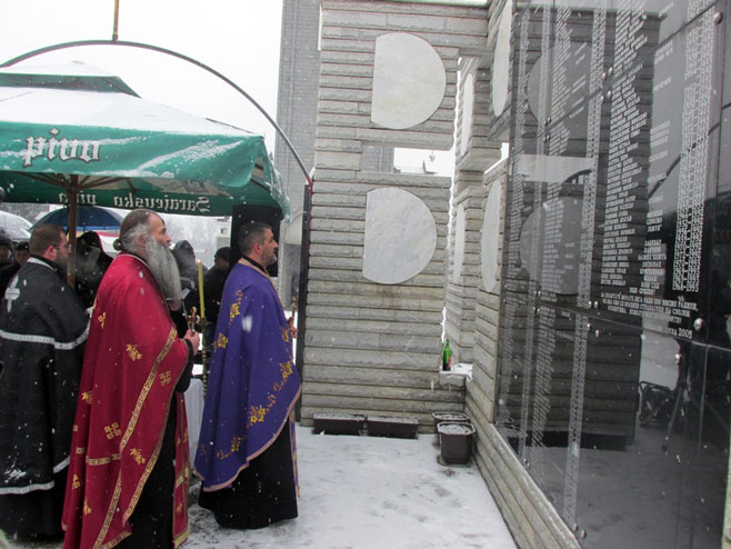 Скелани: Служен парастос за 305 Срба убијених 1993.године (Фото: СРНА)