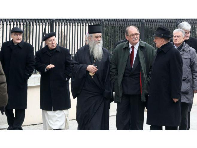 Чланови Мјешовите комисије СПЦ и Хрватске бискупске конференције - Фото: ТАНЈУГ