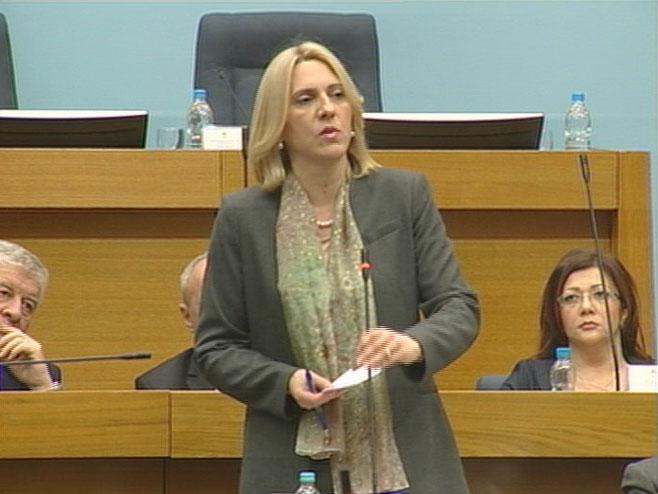 Жељка Цвијановић у НСРС (Фото: РТРС)