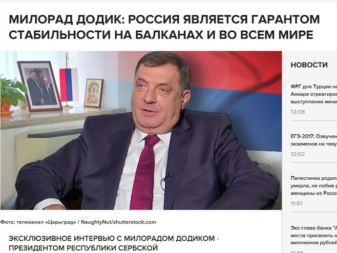 Милорад Додик, интервју за Цариградску ТВ - Фото: Screenshot
