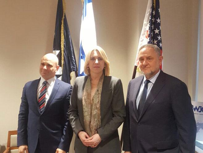 Цвијановићева са директор Свјетског јеврејског конгреса (Фото: РТРС)