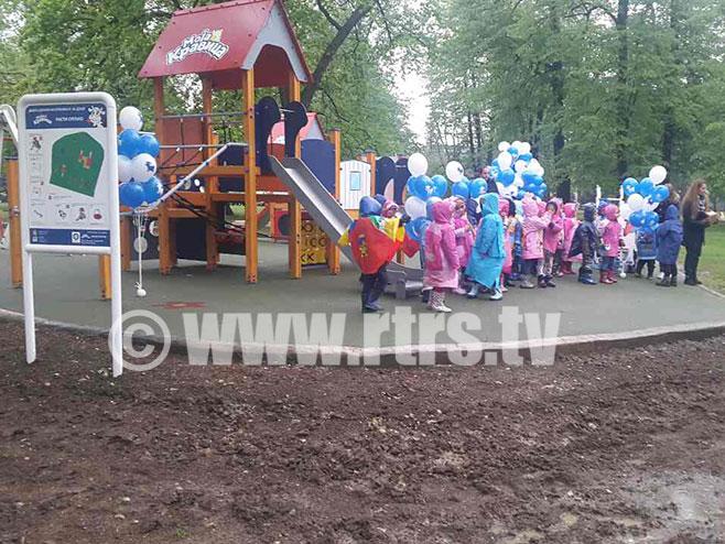 Отварање дјечијег игралишта у Парку Младен Стојановић