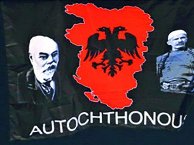 """Застава са """"Великом Албанијом"""" - Фото: nezavisne novine"""