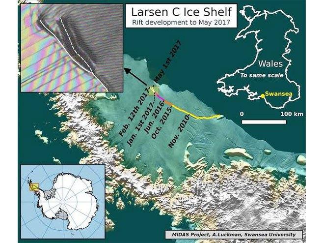 Нова пукотина на Антарктику