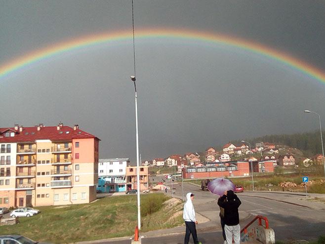 Duga iznad Pala (Foto: RTRS)