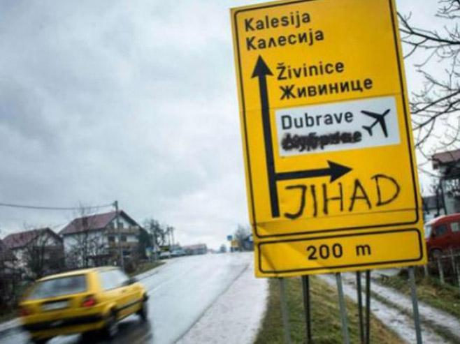 Натписи на саобораћајним знаковима (Фото: dnevnik.ba) -