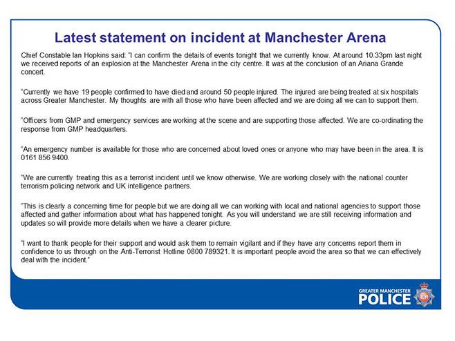 Policijski izvještaj o napadu
