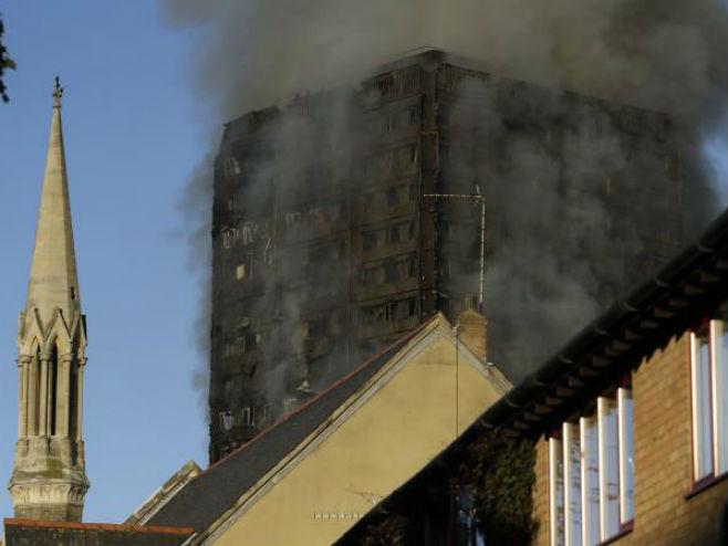 Пожар у Лондону (Фото: Tanjug-AP) -