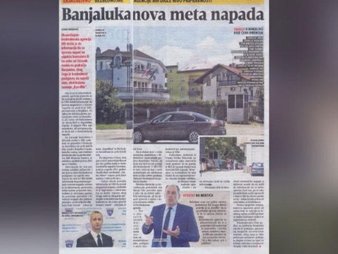 Пријетње Бањалуци - Фото: РТРС