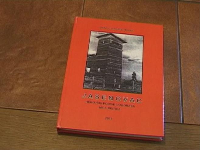 """Књига """"Јасеновац, херојски подвиг логораша Миле Ристића"""" - Фото: РТРС"""