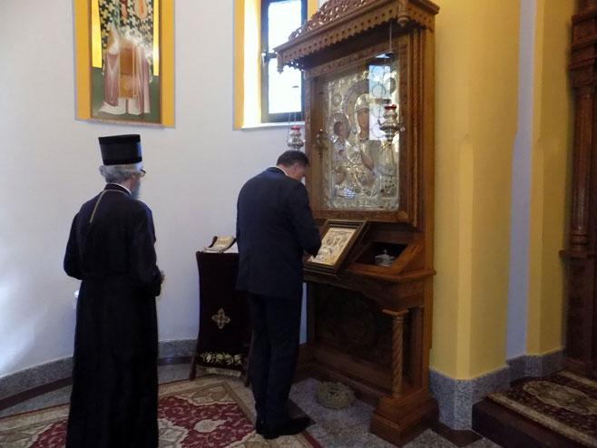 Dodik obišao manastir Osovica u opštini Srbac
