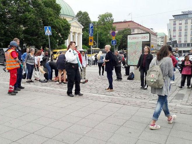 Финска: Мушкарац упуцан након што је ножем напада  људе (фото: YLE) -