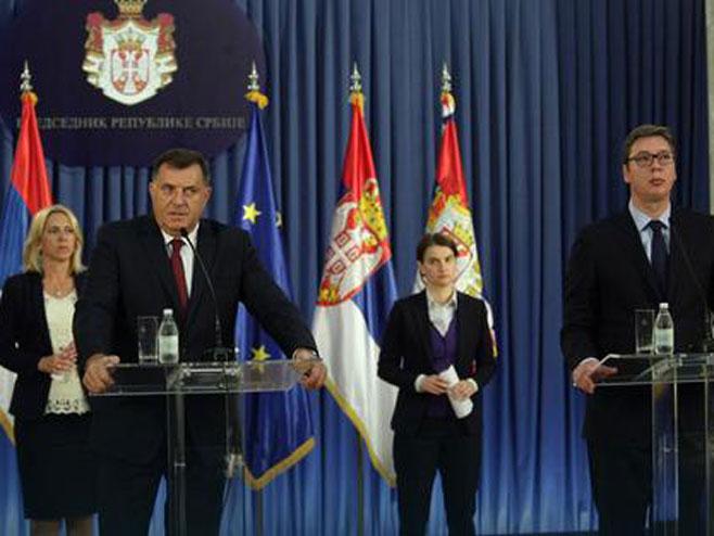 Милорад Додик и Александар Вучић - прес