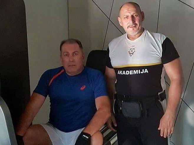 Мектић и Дукменић у теретани, (фото: facebook.com) -